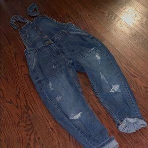 Zara distresses overalls